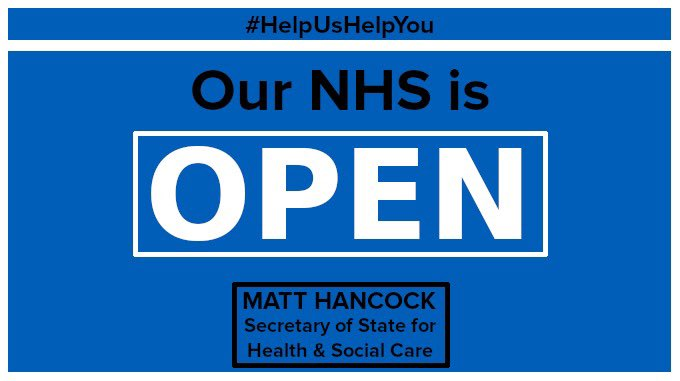 Our NHS is open. 💙🤍 #HelpUsHelpYou