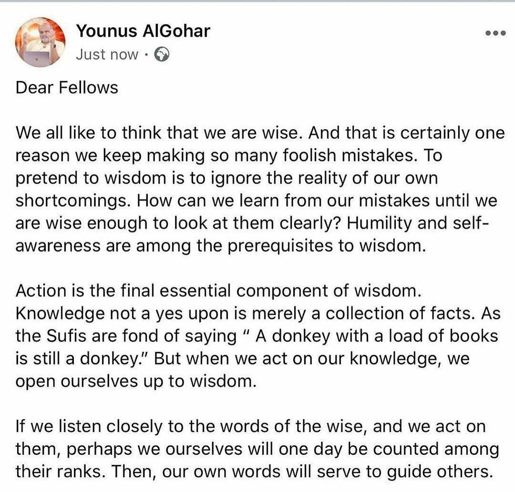 Posted @withregram • @younus_algohar #wisdom #sufism please read and save https://t.co/5dmNqGdnez https://t.co/B6XpyDA4Nd