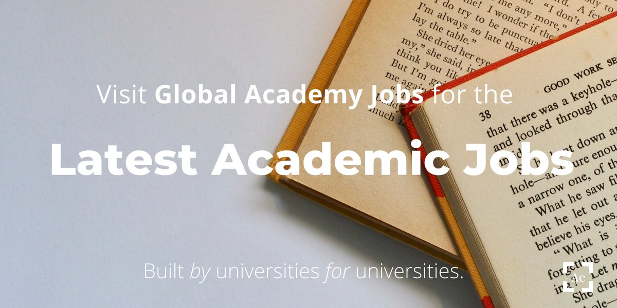 Are you ready to take the next step on your academic career?  Head over to our website https://t.co/TMafHQCXkZ to find out our latest vacancies!  #academia #vacancies #GAJobs https://t.co/OuYG0W6SyS