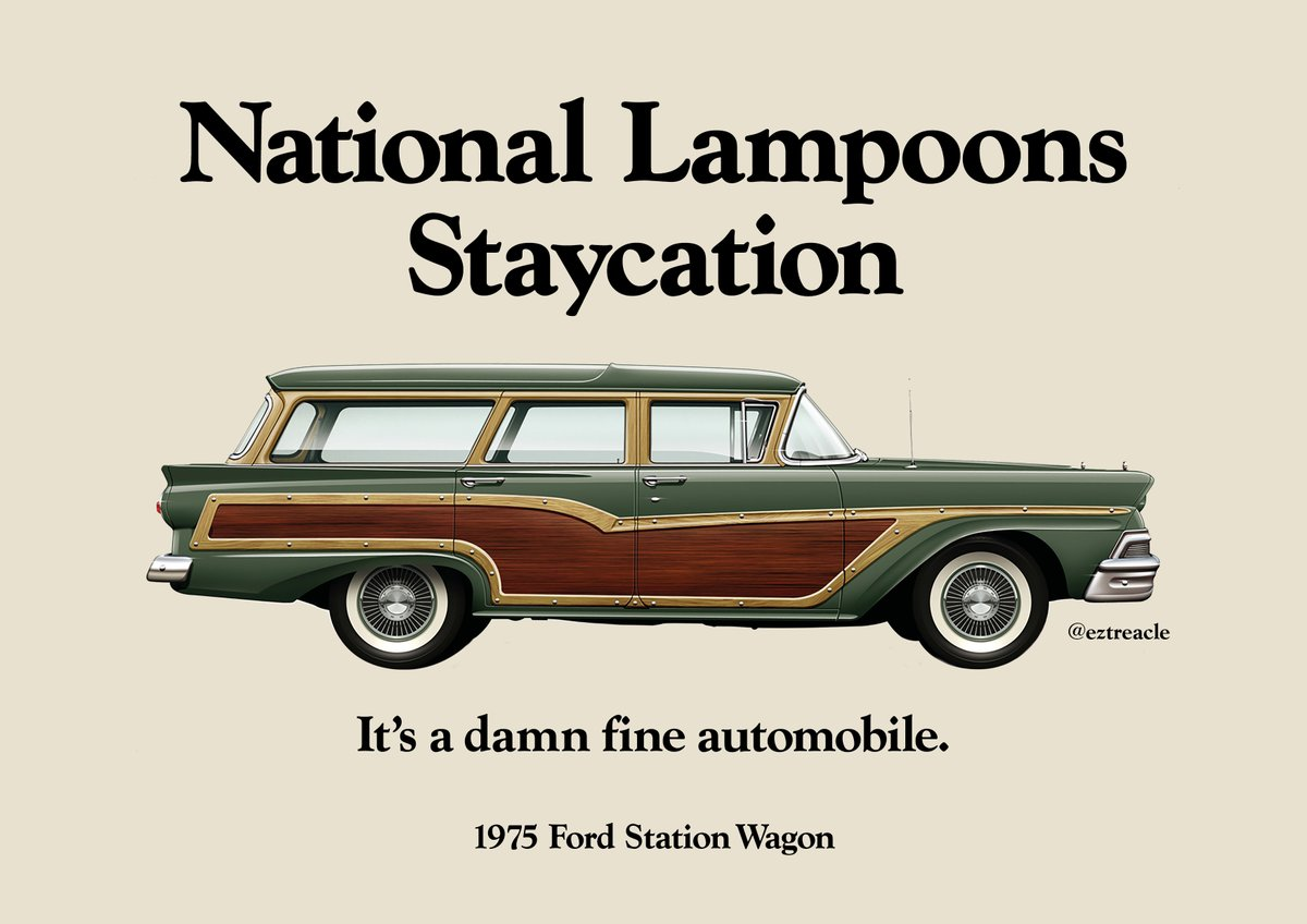 @OneMinuteBriefs Brief of the Day: Create posters for #CLASSICCARS #creative #advertising #NationalLampoons #Staycation #StationWagon #1975 @Fordpic.twitter.com/HQbfurZchO