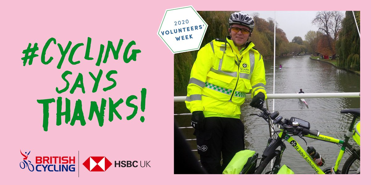 Peter is a volunteer with @stjohnambulance and is normally in charge of the cycling response unit 🚲  He is currently assisting ambulance crews that are helping #NHS trusts in response to #Covid19 🚑 Thanks Peter!  #VolunteersWeek ➡️ https://t.co/vuhPw3iXAK  #CyclingSaysThanks https://t.co/TGA2KrAyOT