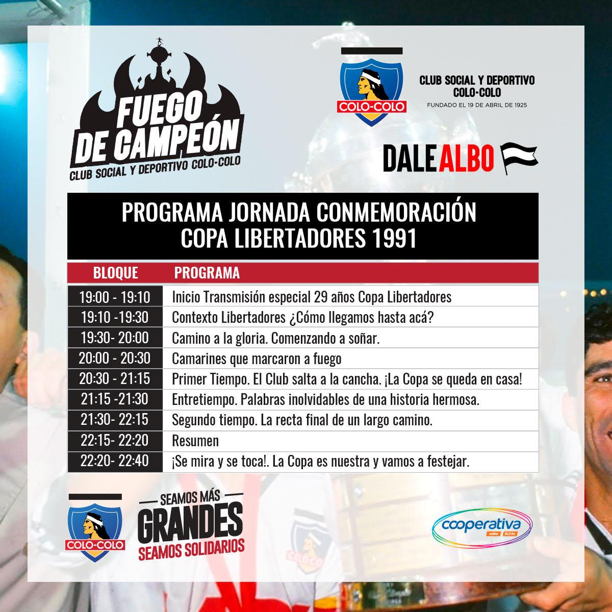 Este viernes 5 pondremos fin a la  campaña solidaria #FuegoDeCampeón y junto a @dalealbo y @Cooperativa reviviremos la obtención de la Copa Libertadores de 1991 con la participación de nuestros campeones de América.   No olvides donar tu balón de gas en 👇 https://t.co/NEMqnJo8sG https://t.co/GCMebcxbh2
