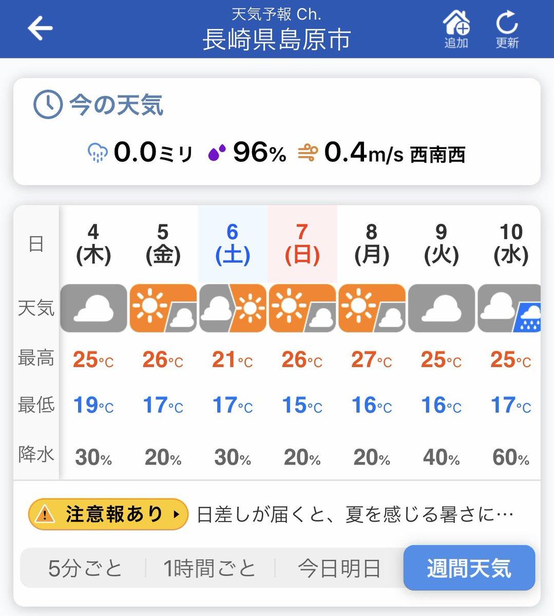 島原 市 天気