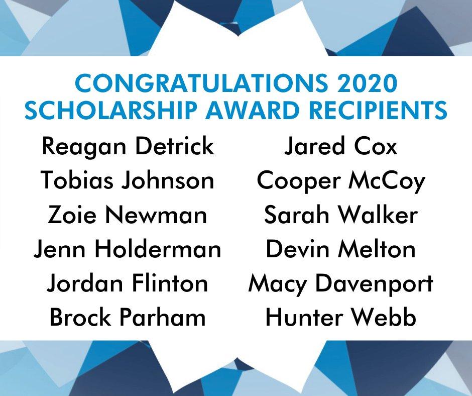 Congratulations to our 2020 Scholarship Award Recipients! #Refocus2020