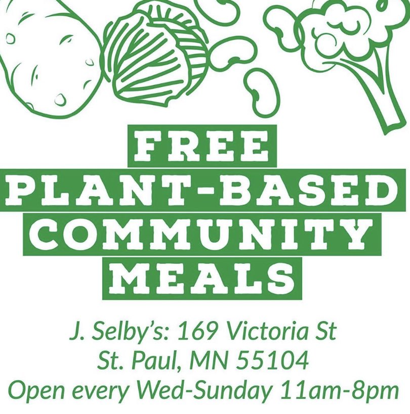 St Paul! Free Meals for the community at J.Selby's