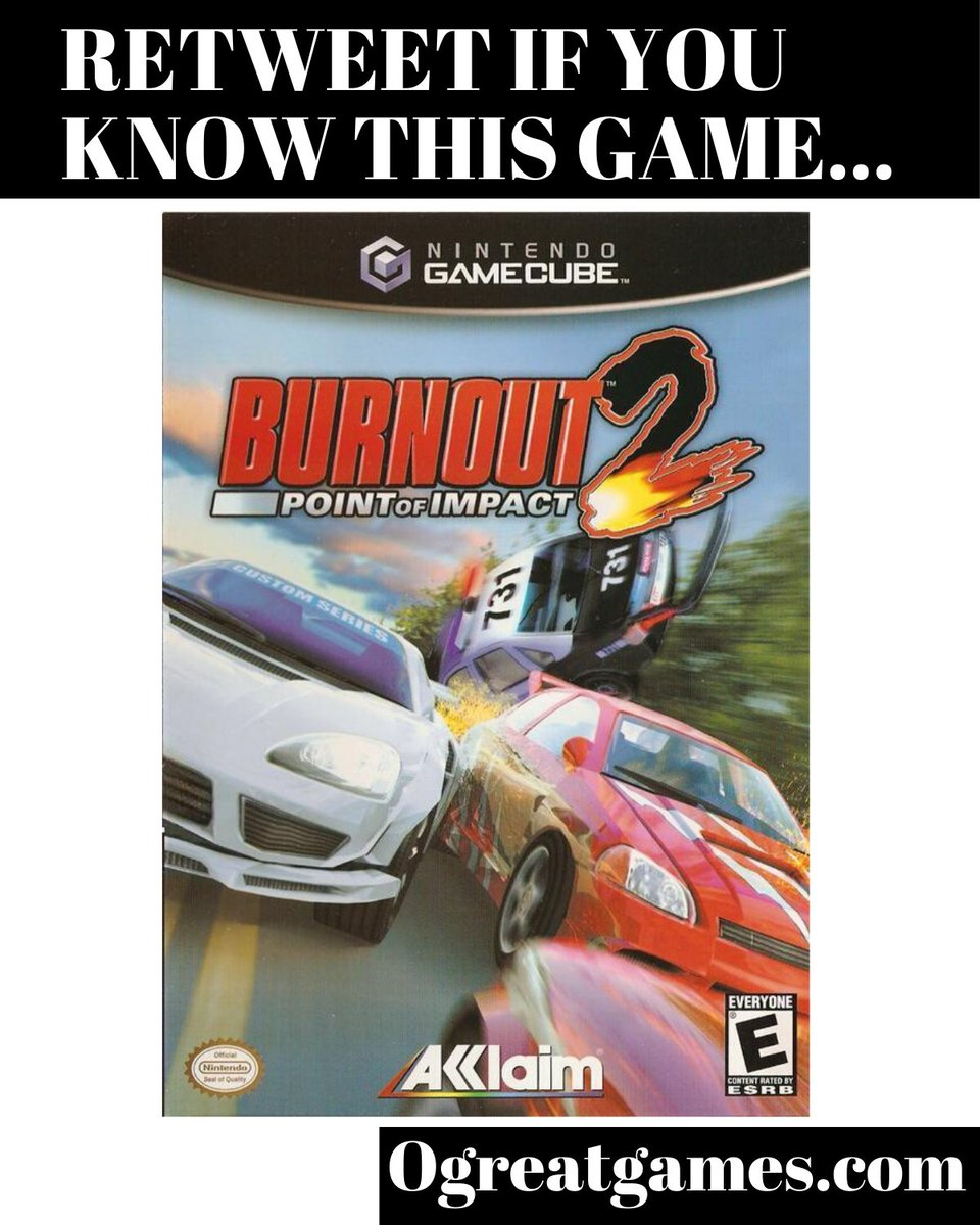 RT if you have ever heard of Burnout 2 Point of Impact! https://ogreatgames.com/products/burnout-2-point-of-impact-1… #auto #retweet #rt #gamersunite #gamecubepic.twitter.com/RJAZysBPWw