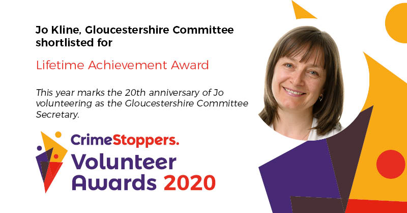 Jo Kline from the #Gloucestershire Committee is our 1st shortlisted nomination for the Lifetime Achievement Award 2020. In #VolunteeringWeek, see who else is in contention for the award: bit.ly/2yQJmhJ. Visit here to volunteer: bit.ly/2kQaPpb.