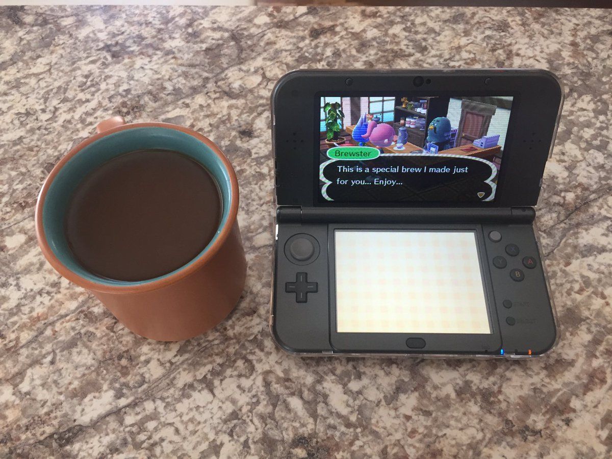 Brewster just made me some fresh coffee. #animalcrossing #brewster #Nintendo #3DS #coffee