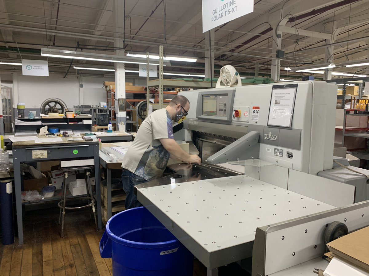 Distanced, masked, and still creating the best custom handmade boxes around. Say hello to our packaging experts: https://t.co/QTr4r2hsaA  #behindthescenes #custompackaging #madeinri https://t.co/FLw6i9BoQC