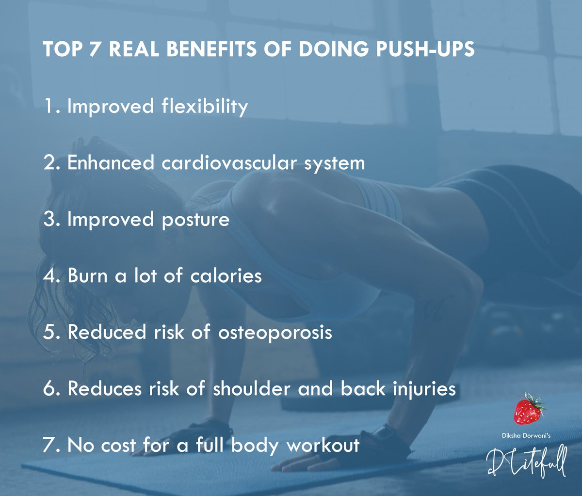 Push-ups are one of the most beneficial workouts, for both your body and mind. It helps you achieve a tight and toned upper body with a strong core. Here are 7 proven benefits of doing push-ups...  #pushups #workout #bodytoning #upperbody #core #corestrength #pushupbenefitspic.twitter.com/56NOeai2zp