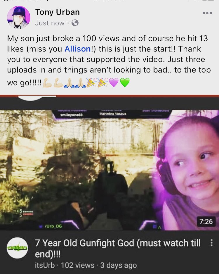 Watch out!! Urb jr is coming!! Y'all wonder where I've been.. masterminding a plan to have me son over take the throne as the best gamer in the world 😂😂 @SoaRCarl_  @SoaRGaming @DareRising #gamer #thursdaymorning #thursdayvibes #Activision #CallofDutyModernWarfare #FaZeUp