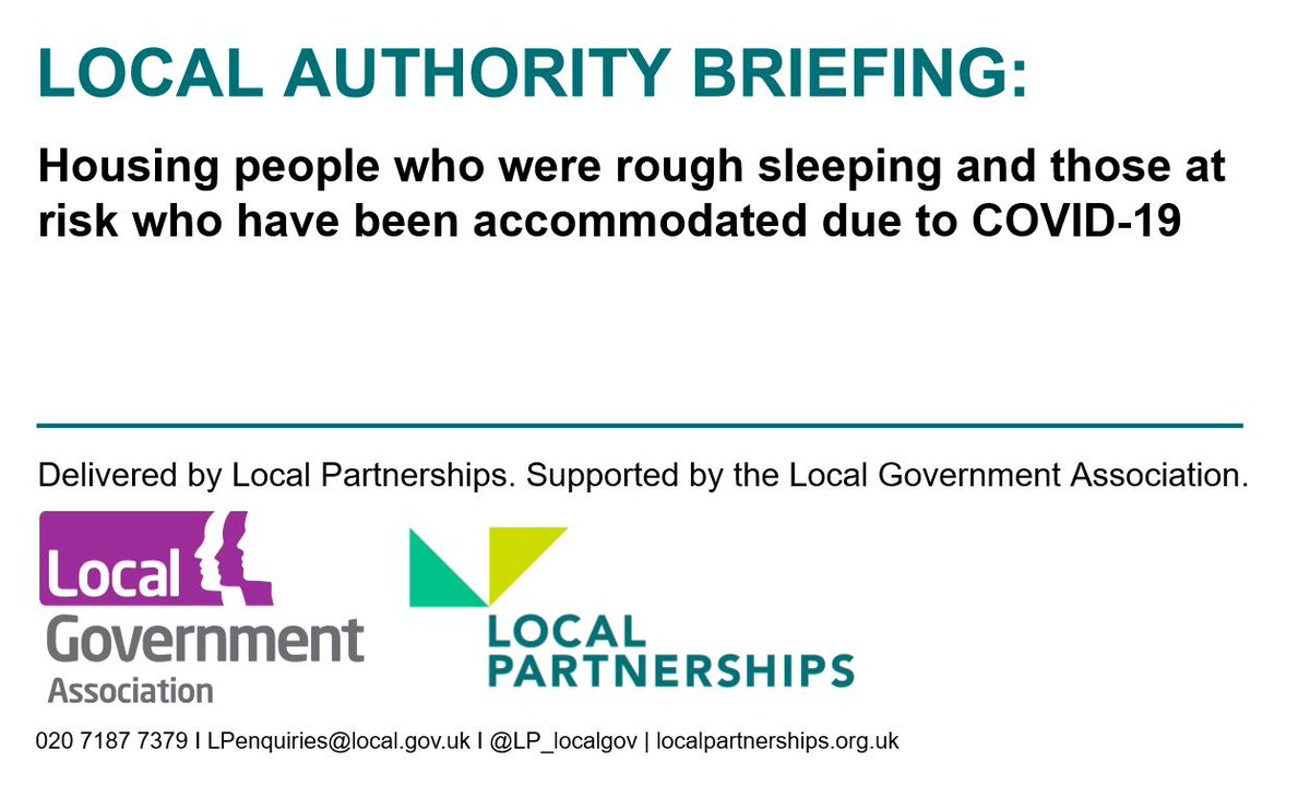 "#READ: ""Housing people who were rough sleeping and those at risk who have been accommodated due to COVID-19""  The #localgov briefing covers how to tackle the next stage of supporting those who were, or at risk, of rough sleeping during COVID-19 crisis  👉https://t.co/l8EcuwTIhw"