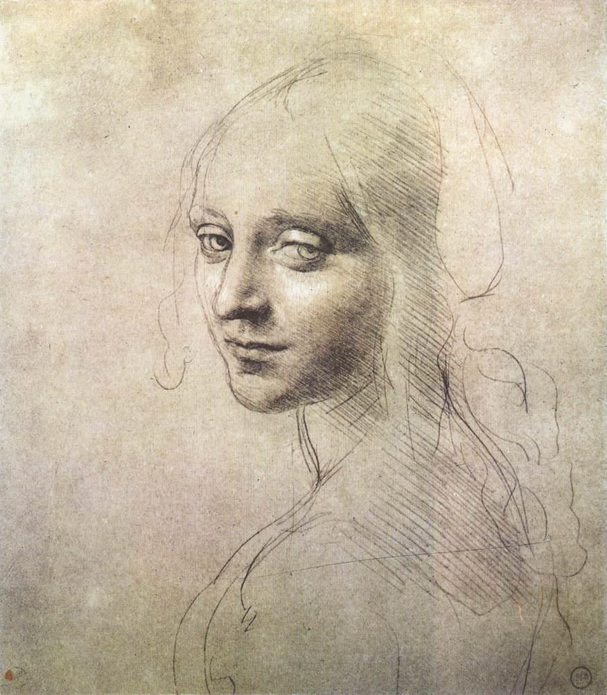 Head of a girl, 1483 #earlyrenaissance #leonardodavinci <br>http://pic.twitter.com/UQ1xj9GMeH