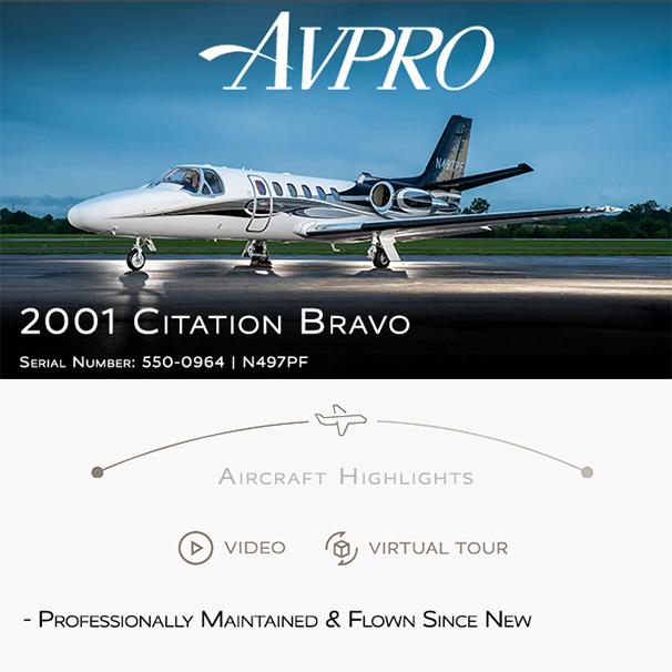 New to market - 2001 #Citation #Bravo at @AvproJets  Engine overhauls by Pratt & Whitney ADS-B Out More details at: https://t.co/QwTCZUv0Vs  #bizjet #bizav #aircraftforsale #privatejet #privateflying #jetforsale #businessaviation https://t.co/sFNs6HUZdx