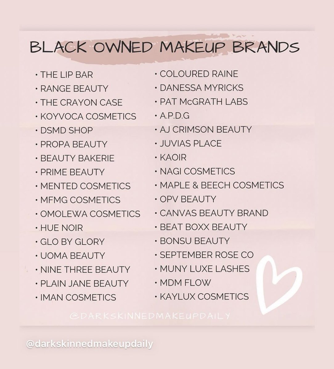 Black owned brands you may not have known about!! Makeup, nails, candles and more!