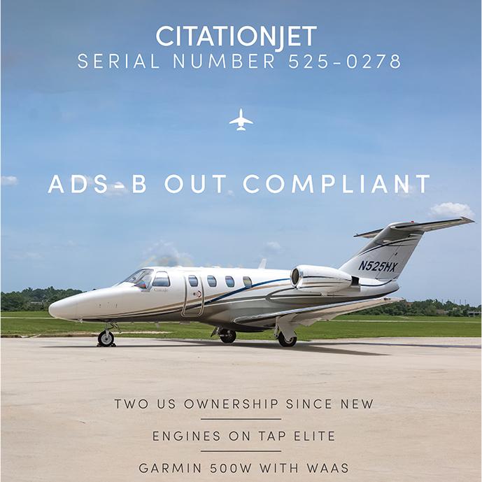 Part 135 turnkey - #CitationJet available at @OGARAJETS    Engines on TAP Elite ADS-B Out More details at: https://t.co/7vkf7nRdtx  #bizjet #bizav #aircraftforsale #privatejet #privateflying #jetforsale #businessaviation https://t.co/NKnX7D49Ra
