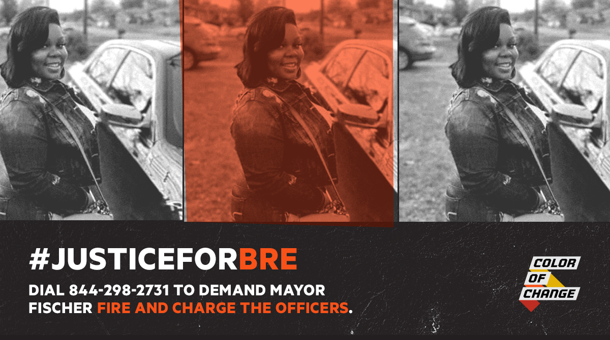 Arrest Brett Hankinson, Johnathan Mattingly, and Myles Cosgrove for the murder of #BreonnaTaylor. #SayHerName   Dial 844-298-2731 to demand city leadership get #JusticeforBre. https://t.co/jdtmoevZhY