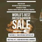 Image for the Tweet beginning: Don't forget the 🐔sale today