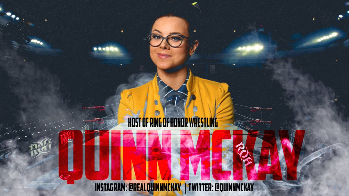She can wrestle and she can host, thank you for the support. @ringofhonor Host @QuinnMcKay 2xAds for £10 ($15 ) DM me ❤