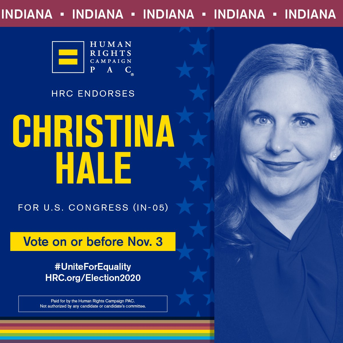 Im honored to be endorsed by @HRC. In Congress, Ill always stand as a fierce advocate for the LGBTQ community to ensure equality for all.