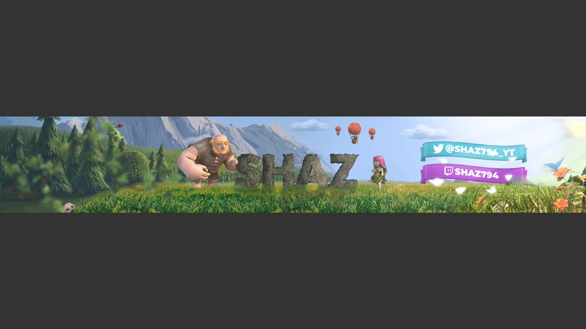 Shoutout to @itzpandagg for this amazing #ClashRoyale #YouTube banner, hit him up if you guys need anything. pic.twitter.com/LUhZRMUawp