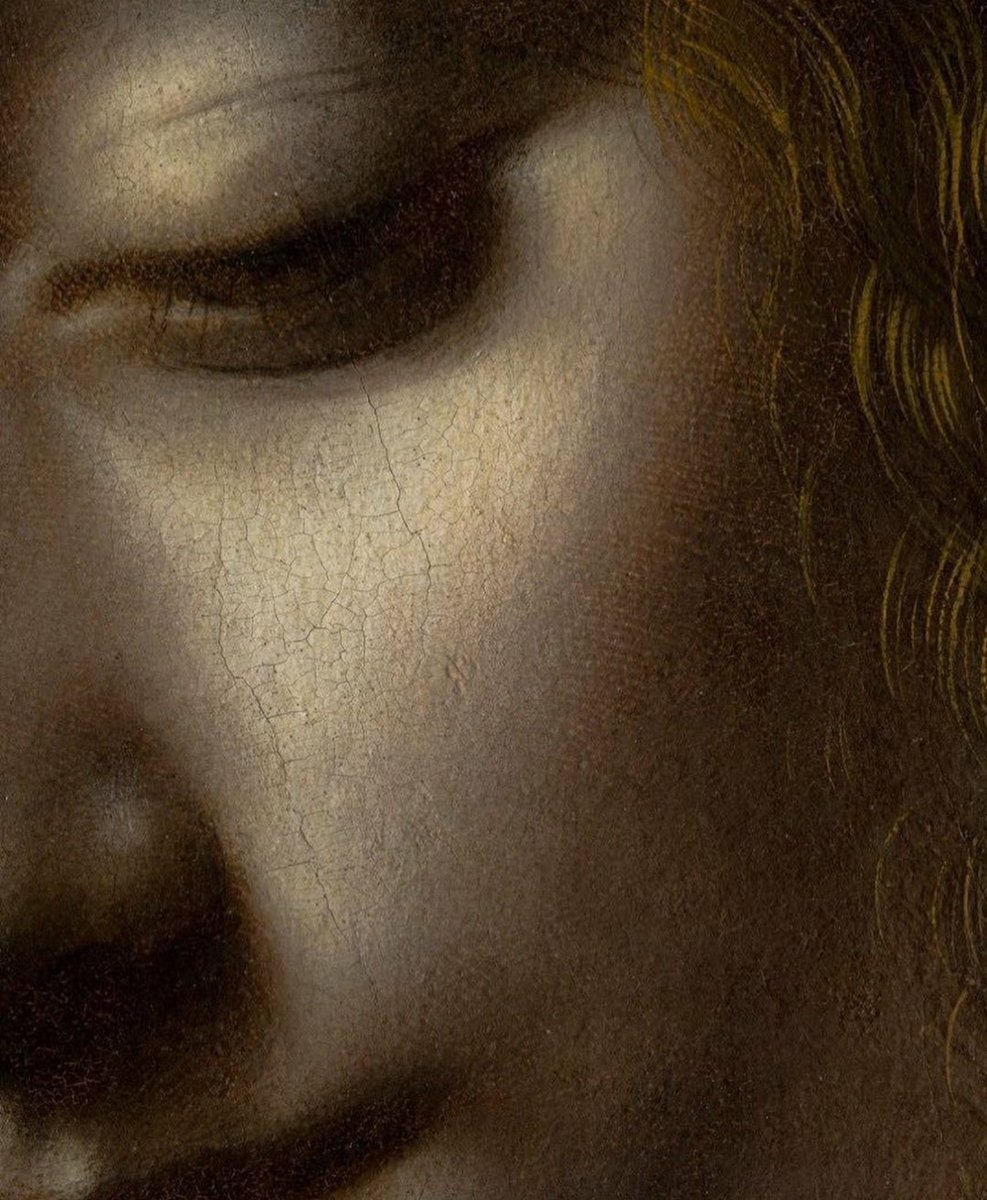 'The Virgin of The Rocks' (detail) c. 1491-1508 #LeonardodaVinci #art<br>http://pic.twitter.com/GblqUb2coU