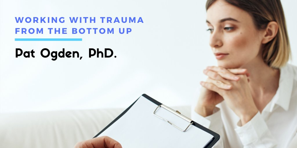 Pat Ogden, PhD. Working With Trauma From The Bottom Up. This episode is sponsored by Sensorimotor Psychotherapy Institute. Listen to Pat's interview here: https://t.co/88RsgAylC5 https://t.co/ZTWIRy0d06