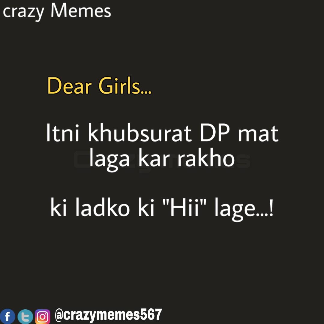 Apna Pyar banae rakhen..... @crazymemes567  #crazymemes #crazymemes567 #desimemes #sarcasticmemes #sarcastic #bakchod #memes #meme #memedaily #desijokes #hindimemes #hindijokes #bcbaba #crazy #dekhpagli #nonvegjokes #chutiyapa #indianmemes #newmemespic.twitter.com/mHohigNLyc