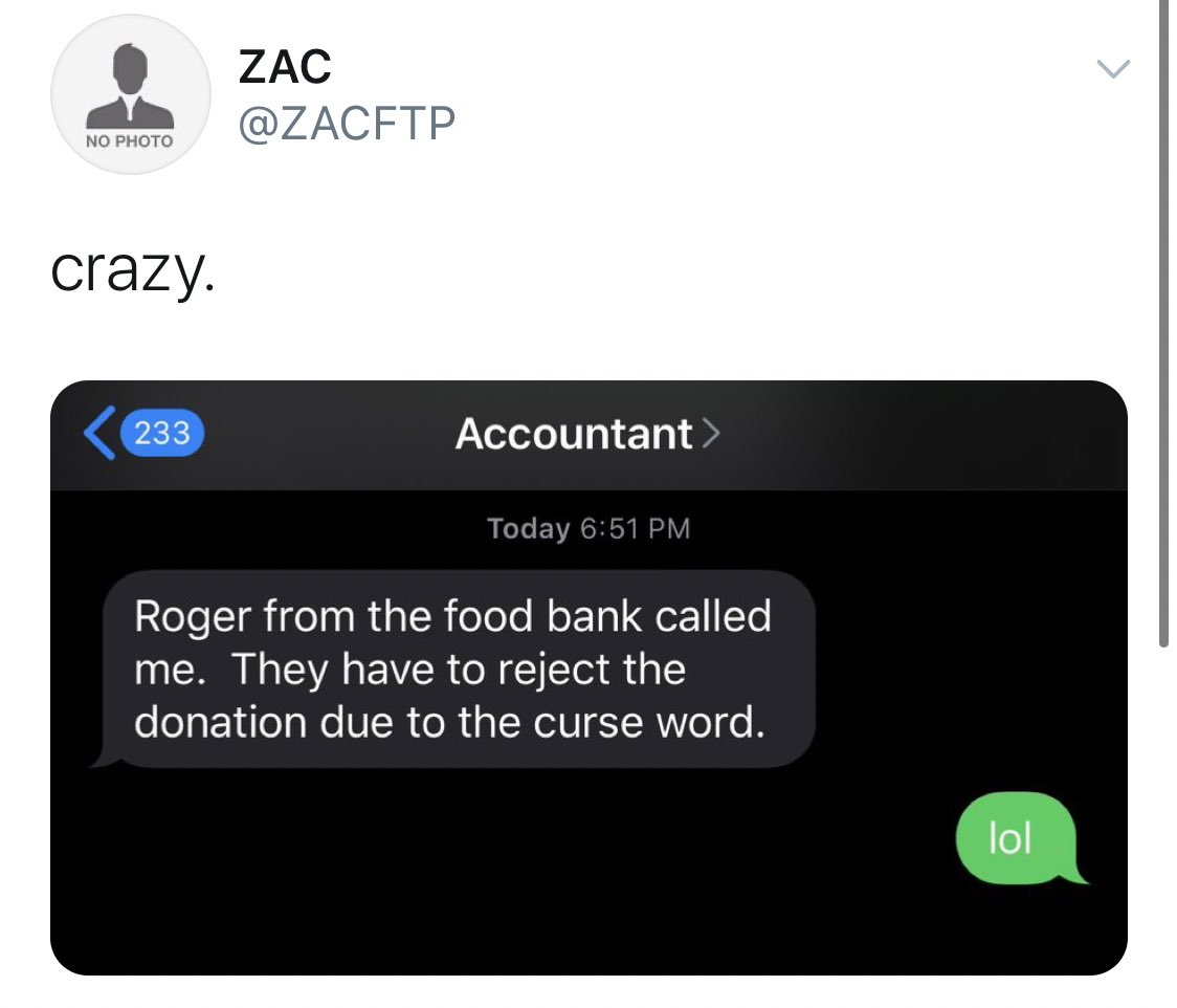 FTP donated 15,000 dollars and got their donation rejected because they have a swear word in their name. @FTP