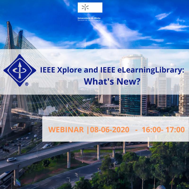 Descubra os novos recursos e serviços adicionados no portal IEEE Xplore.  Formador: Paul Henriques (IEEE) Idioma: inglês Inscrições em: https://t.co/OCI48SkXSM Participe! https://t.co/GemuB4nVi3