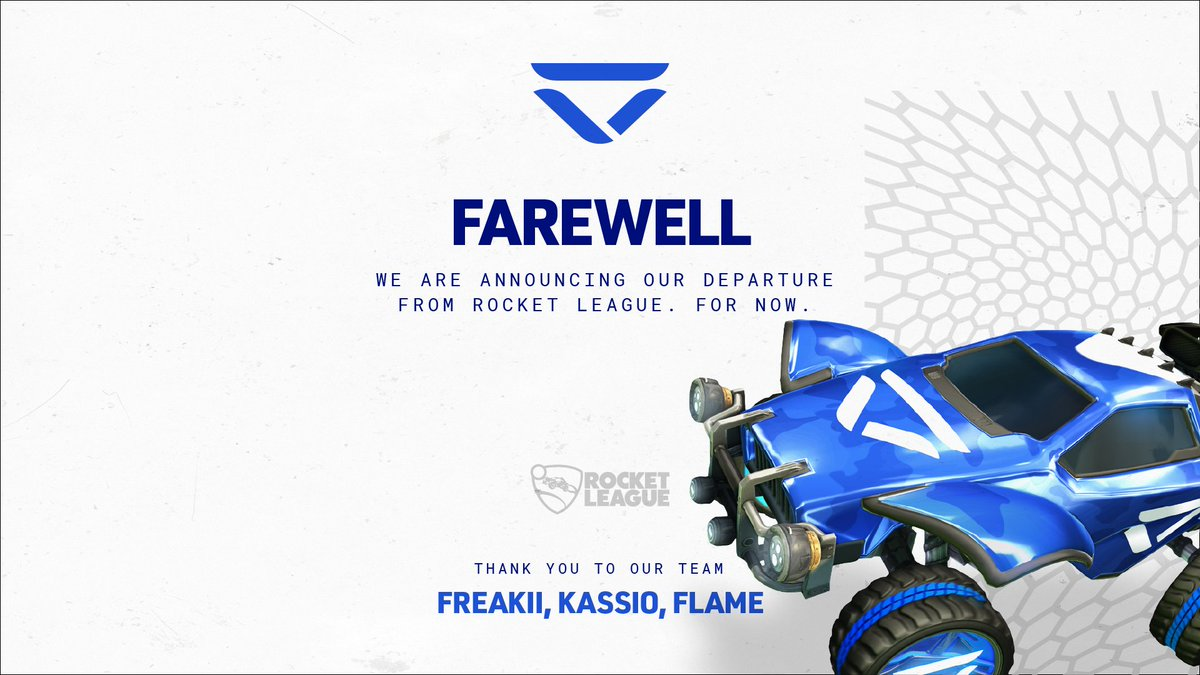 All good things come to an end, and for now, our Rocket League journey ends here. 🥇 RLRS Season 7 🥉 EU Regional Season 8 ⭐ RLCS Worlds Season 9   5-6th Thank you to our players, @FlamE_RL, @Kassio_RL, @FreaKiiRL, we wish you the best of luck. Big love for the RL community 💙
