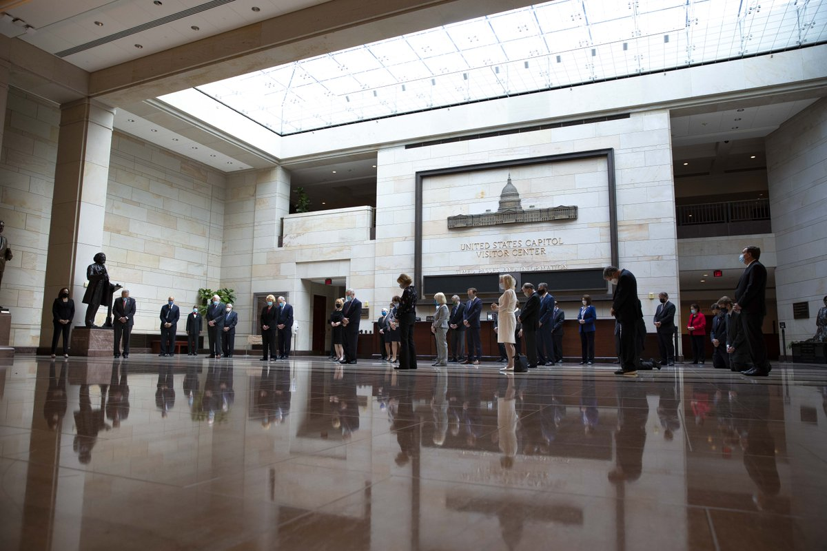 This morning I joined Senate colleagues for a moment of silence in Emancipation Hall to commemorate the life of George Floyd, Ahmaud Arbery and Breonna Taylor, and to stand in solidarity with Americans all across the country who are hurting. We must address these injustices.