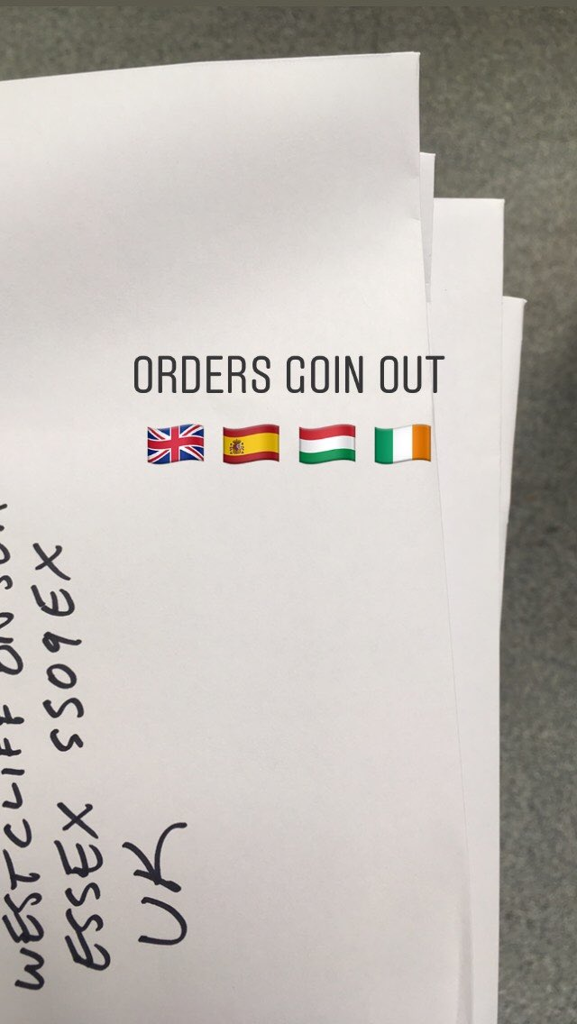 Orders going out today 🇬🇧 🇪🇸 🇭🇺 🇮🇪