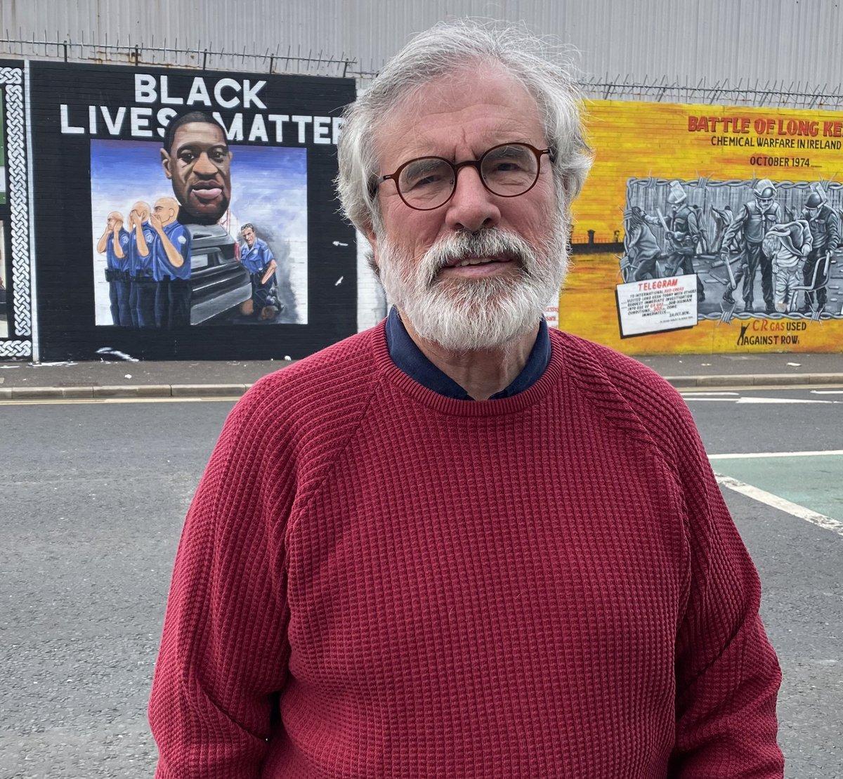 Well done Mural Artists Martie & Mickey for George Floyd mural. Racism kills. Well done Féile An Phobail agus Fáilte Feirste Thiar.