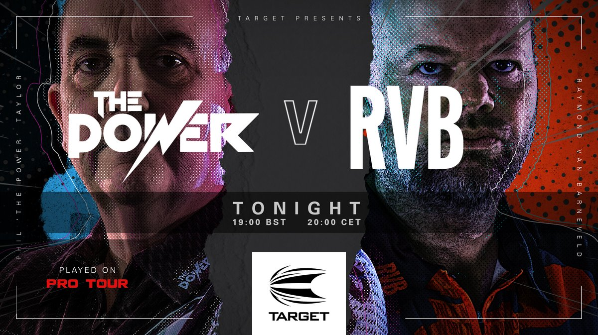 1 HOUR TO GO  Who's ready to see @PhilTaylor v @Raybar180 battle it out in their Darts from Home rematch on a steel tip board? We are!  Catch the action here from 19.00 BST / 20.00 CET.  @paddypower #TargetDarts #Darts #StepBeyond https://t.co/XtZwQ1sZrg