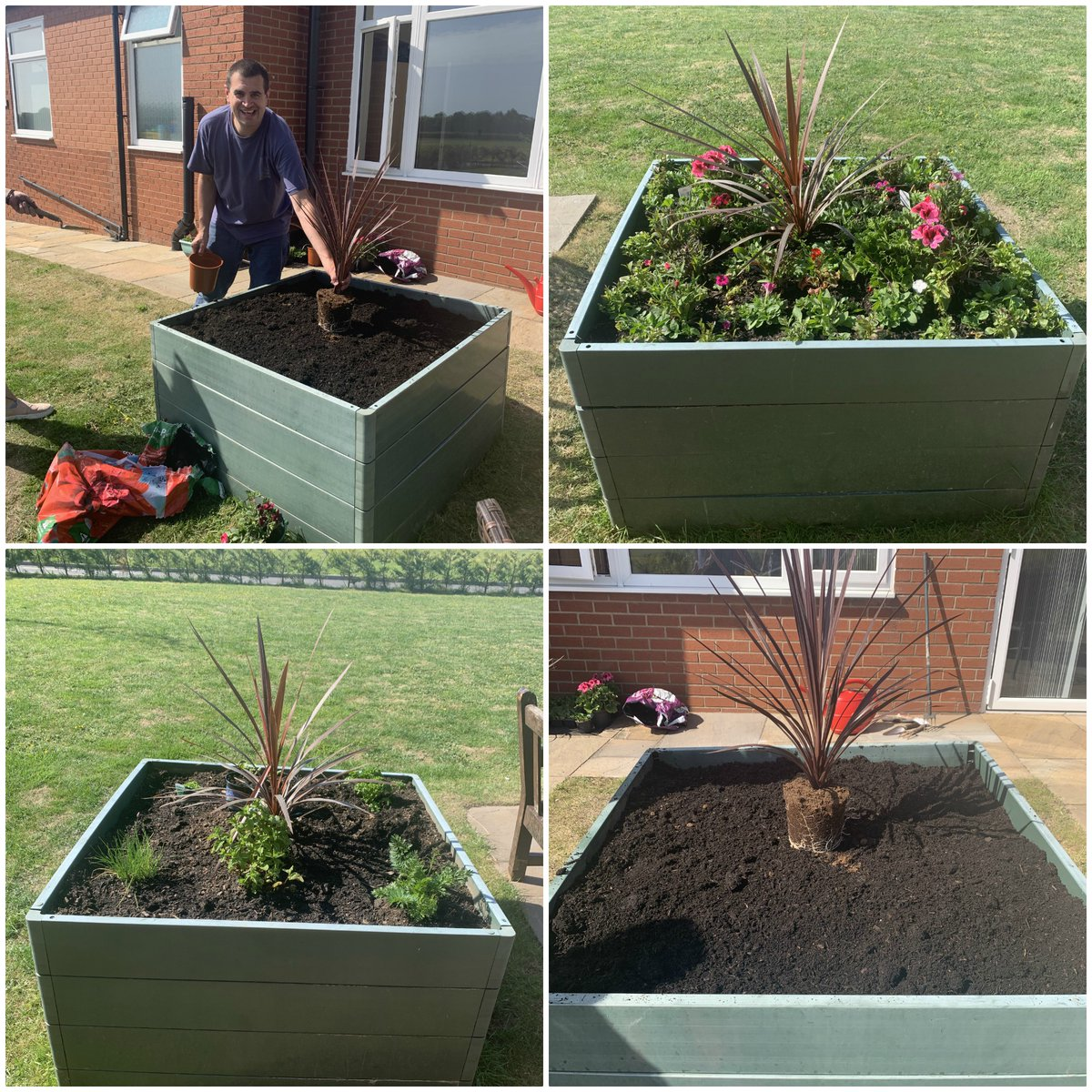 Our Lancashire Services have been busy keeping themselves planting some plants and herbs to enjoy. Good job guys, we think it looks great!🌻🌷 #Lancashire #Gardening #Plants #Herbs #SocialCare