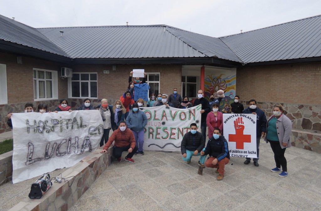 #Ahora Los trabajadores del Hospital Rural de #Dolavon realizan retención de servicios hasta que pague los sueldos @gobiernochubut @arcionimariano #Chubut https://t.co/jnVt2b8aQK