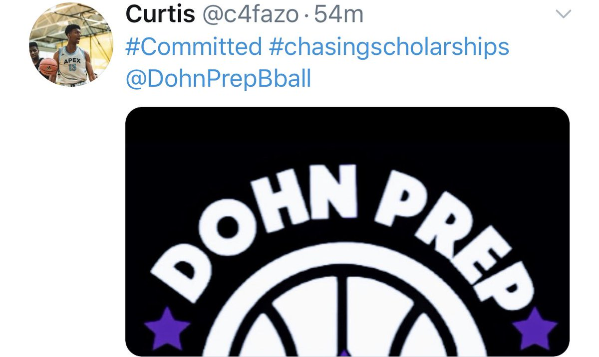 Another Commitment from @c4fazo Curtis Harrison IV Postgraduate 2021 SF/ PF 6'7 Cincinnati, OH #chasingscholarships #bigguard #d1bound #dohnprepbasketball #dohnprepacademy #postgraduate #2021 @dohnprepbball @sammyv_24 https://t.co/R9kP11VNr1