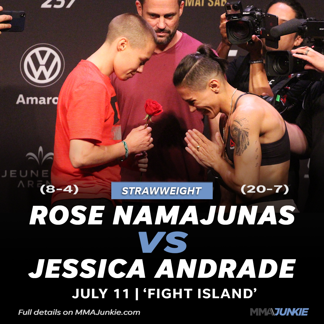 ICYMI: Rose Namajunas vs. Jessica Andrade rematch booked for UFC's July 11 card  Full details: https://t.co/wASrcAtoOM https://t.co/BBmgiiPguB
