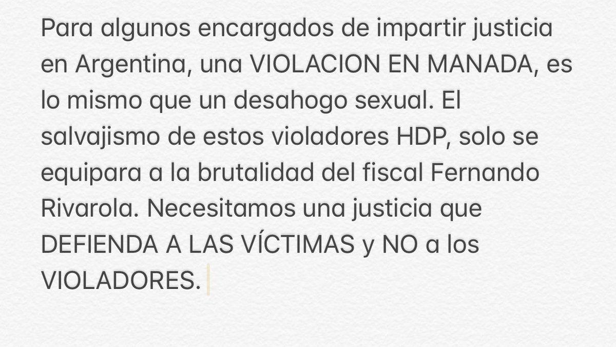 NECESITAMOS UNA JUSTICIA QUE DEFIENDA A LAS VÍCTIMAS Y NO A LOS VIOLADORES. https://t.co/mk0lzGbFZZ