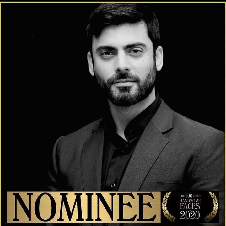 #FawadKhan official nominee for the 100 most handsome faces of 2020.  #TCCandler #100MostHandsome2020