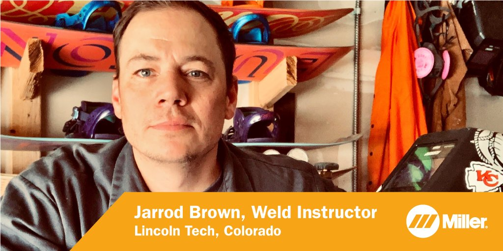 Jarrod Brown, weld instructor at Lincoln Tech in Colorado, quickly adjusted to new ways of bringing the classroom to his students. His engaging content keeps his welding students excited about the trade. Thank you for your dedication and passion! #MillerWelders #MillerEducation https://t.co/HMLMpxKz6z