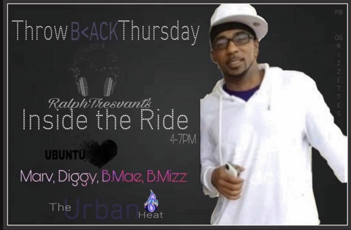 ComeJamWithUs! Hop on @RalphTresvant 's #InsideTheRide today 4-7PM  on 98.1FMTheUrbanHeat!! w/ @MarvNeal @The1TrueJDiggy B.Mae & @Bigmiz0380Payne   (YOUTUBE Live)<br>http://pic.twitter.com/j4h5qHe1DS