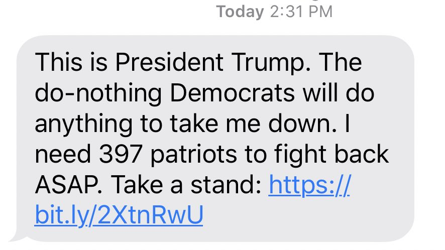 """""""the do nothing democrats will do anything..."""" these text messages are a parody of themselves"""
