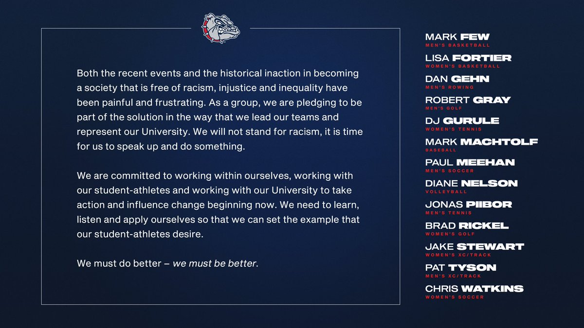 Message from all of our head coaches: https://t.co/U0IdLqb8W3