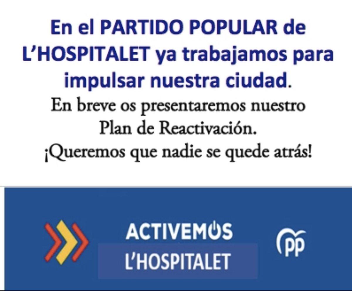 En breve os presentaremos nuestras propuestas! #activemosLHospitalet #activemosespaña #partidopopular pic.twitter.com/Ghaw5LtU05