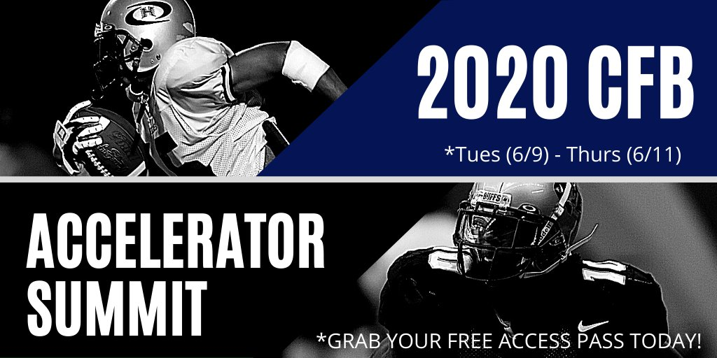 We are Only 5 Days Away!!! Click on the link to grab your FREE ACESS PASS for the 2020 College Football Accelerator Summit. If you have your sights on playin @NCAA @NAIA or @NFL football. Learn from the Best in Football and Business for 3 Days. Let's go! https://t.co/kt3VDl4ZVl https://t.co/VDWliIJYT6