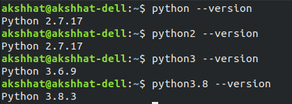 Random #python observation: The fact that a single computer running on Linux (ubuntu) can have so many different versions of Python at the same time is really amusing. Maybe for a programming language named after a comedy troupe, this is real fulfilment.   <br>http://pic.twitter.com/Sy8aW89IdD