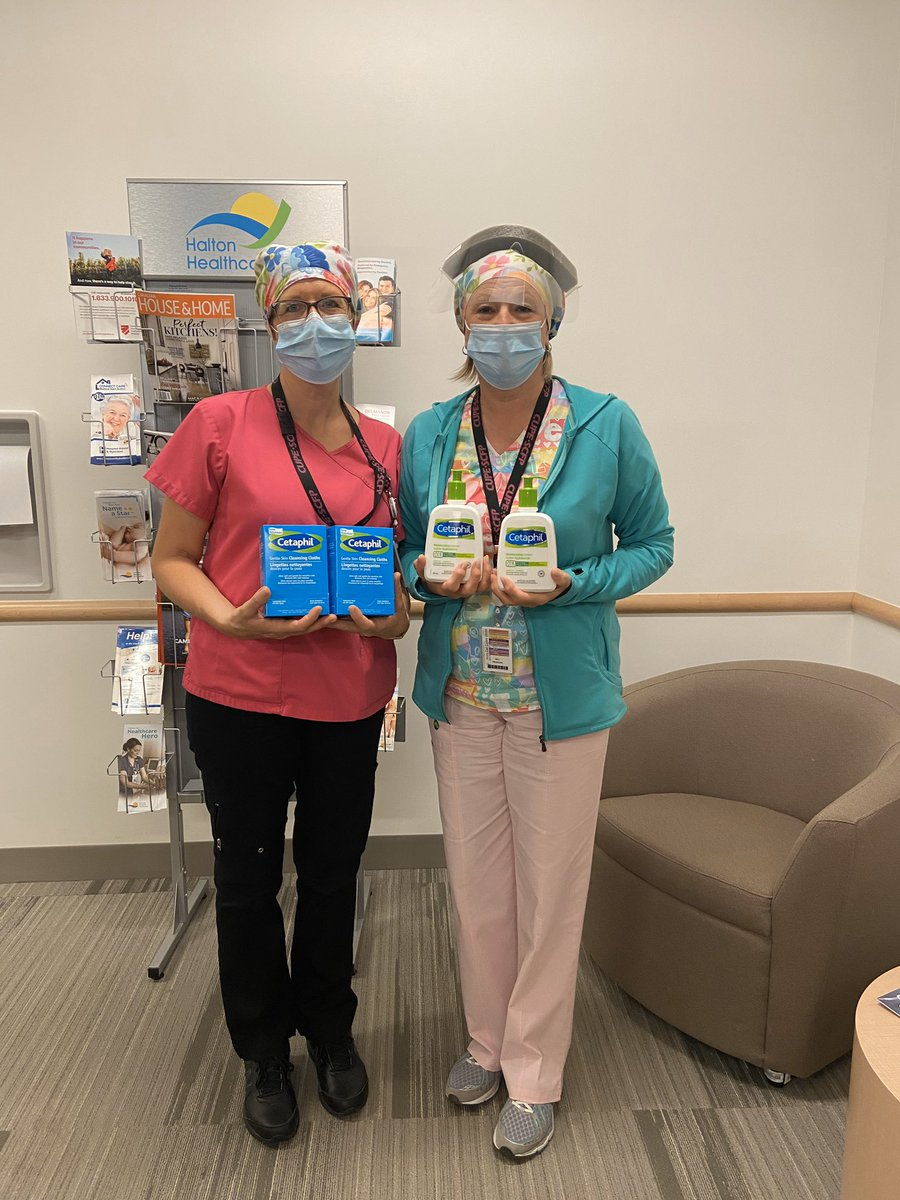 Thank you so much @cetaphil_ca for donating skincare products to our #OTMHHeroes. We are so grateful for your generosity and know our frontline workers will thoroughly enjoy these products!💙 #InThisTogether https://t.co/WZzAYn43dL