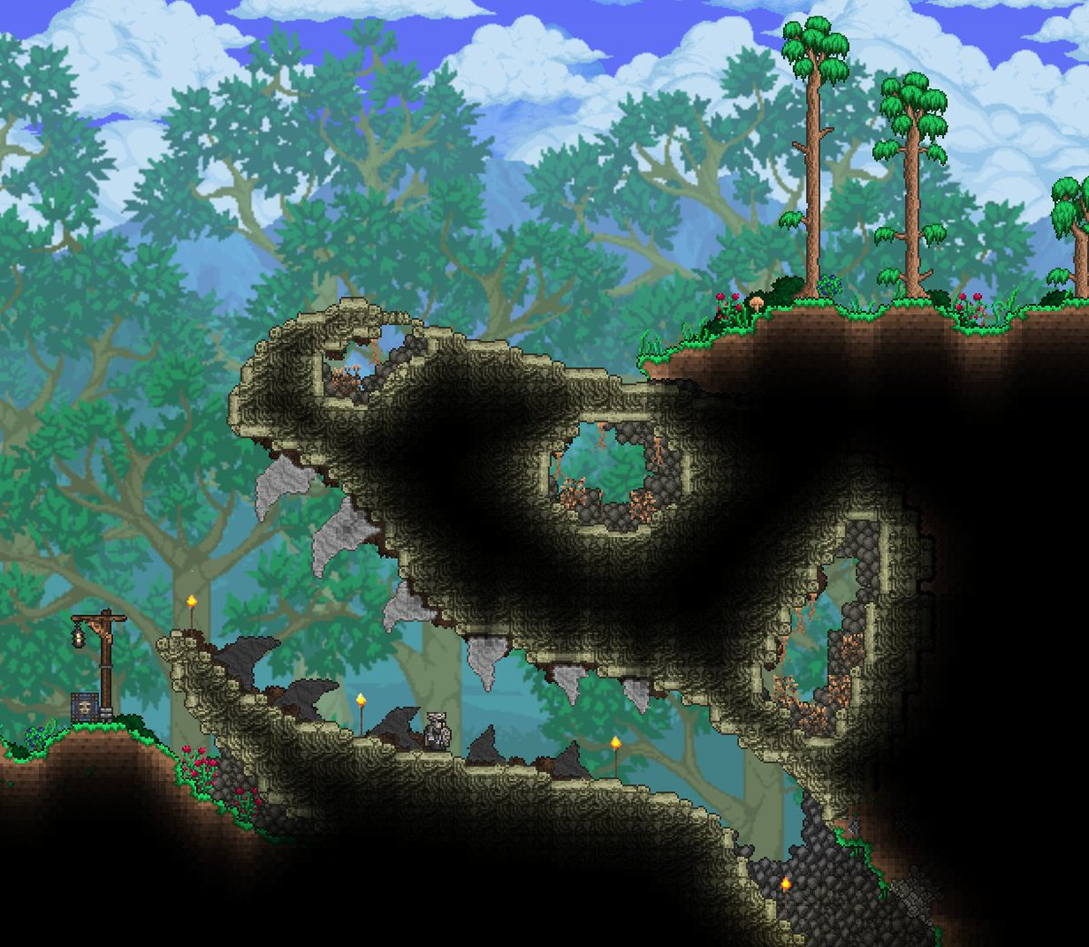 R Terraria On Twitter Dungeon Entrance Https T Co Vhbiuo9hnb A guide that will teach you how to fight the dungeon guardian and obtain his bone key for the baby skeletron head pet, by utilizing. r terraria on twitter dungeon